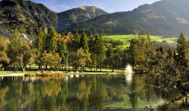 Kurpark Bad Hofgastein im Herbst